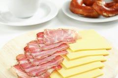 Ham en kaas Stock Foto's
