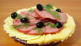 Ham en kaas Royalty-vrije Stock Foto's