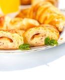 Ham en kaas gevuld toenemend broodje royalty-vrije stock fotografie
