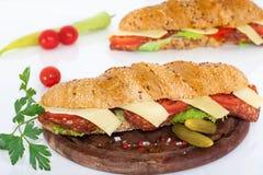 Ham en kaas onderzeese sandwiches Royalty-vrije Stock Afbeelding