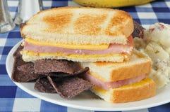 Ham en kaassandwich royalty-vrije stock foto's