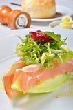 Ham en Meloensalade Royalty-vrije Stock Fotografie