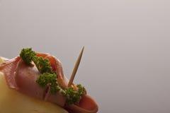 Ham en peterselie Royalty-vrije Stock Afbeeldingen