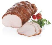 Ham en plakken met decoratie op witte achtergrond wordt geïsoleerd die Royalty-vrije Stock Afbeeldingen