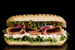 Ham en plantaardige sandwich Stock Foto's