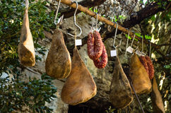 Ham en varkensvleesworst Royalty-vrije Stock Foto
