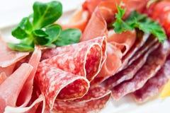 Ham en worst Stock Foto's