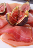 Ham and fig Royalty Free Stock Images