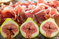 Ham And Figs Stock Photography