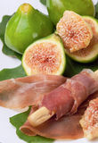 Ham and figs Royalty Free Stock Photos