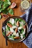 Ham and figs salad Stock Photos