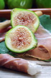 Ham and figs Royalty Free Stock Images