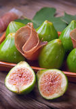 Ham and figs Royalty Free Stock Image