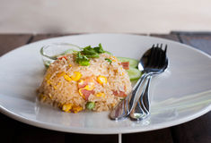 Ham Fried Rice Royaltyfria Foton