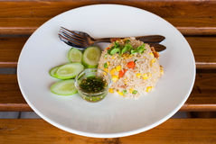 Ham Fried Rice Royaltyfria Bilder