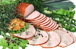 Ham with green Royalty Free Stock Photos