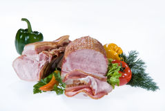 Ham, Greenery And Pepper Royalty Free Stock Photo