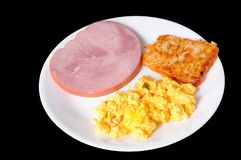 Ham Hash Browns And Eggs Stock Images