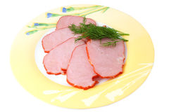 Ham with herbs Stock Photo