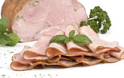 Ham with herbs Royalty Free Stock Photography