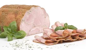 Ham with herbs Stock Photography