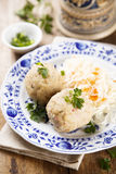 Ham and herbs dumplings Royalty Free Stock Photos