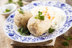Ham and herbs dumplings Stock Image