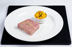Ham hock with piccalilli Royalty Free Stock Photo