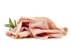 Ham Isolated no branco Foto de Stock