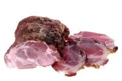 Ham isolated on white Royalty Free Stock Photo