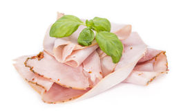 Ham isolated on white Royalty Free Stock Images