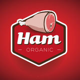 Ham label or badge vector Stock Images
