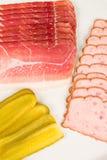 Ham and leberkaese Stock Images