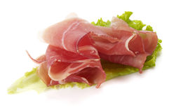Ham and lettuce Stock Photo