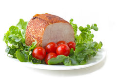 Ham and Lettuce Royalty Free Stock Photo