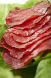 Ham and lettuce Royalty Free Stock Photography