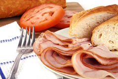 Ham lunch spread Stock Images