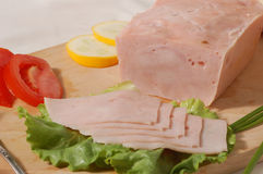 Ham made from turkey Royalty Free Stock Image