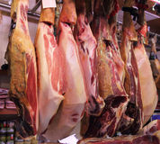Ham market in  Spain. Royalty Free Stock Photography