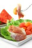 Ham with melon Royalty Free Stock Photo