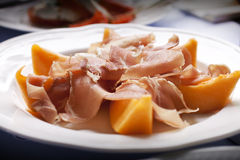 Ham and melon Stock Photography