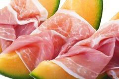 Ham and melon Royalty Free Stock Image