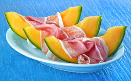 Ham and melon Royalty Free Stock Photography