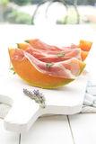 Ham and melon Stock Photo