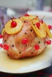 Ham met ananasglans Stock Afbeeldingen