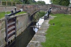 Ham Mill Lock Thrupp Royaltyfri Bild