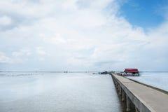 Ham Ninh fiskeläge, trevligt hav/strand i Phu Quoc Arkivfoton