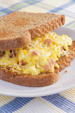 Ham Omelet Breakfast Sandwich Royalty Free Stock Photo