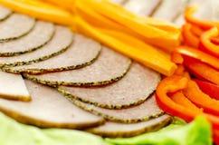 Ham with paprika. Stock Photos