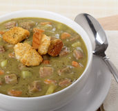 Ham and Pea Soup Stock Photography